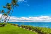 A view from the coastline of Kihei on Maui Hawaii with the island of Kahoolawe on the horizon poster
