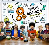 Human Resources Employment Job Recruitment Profession Concept poster