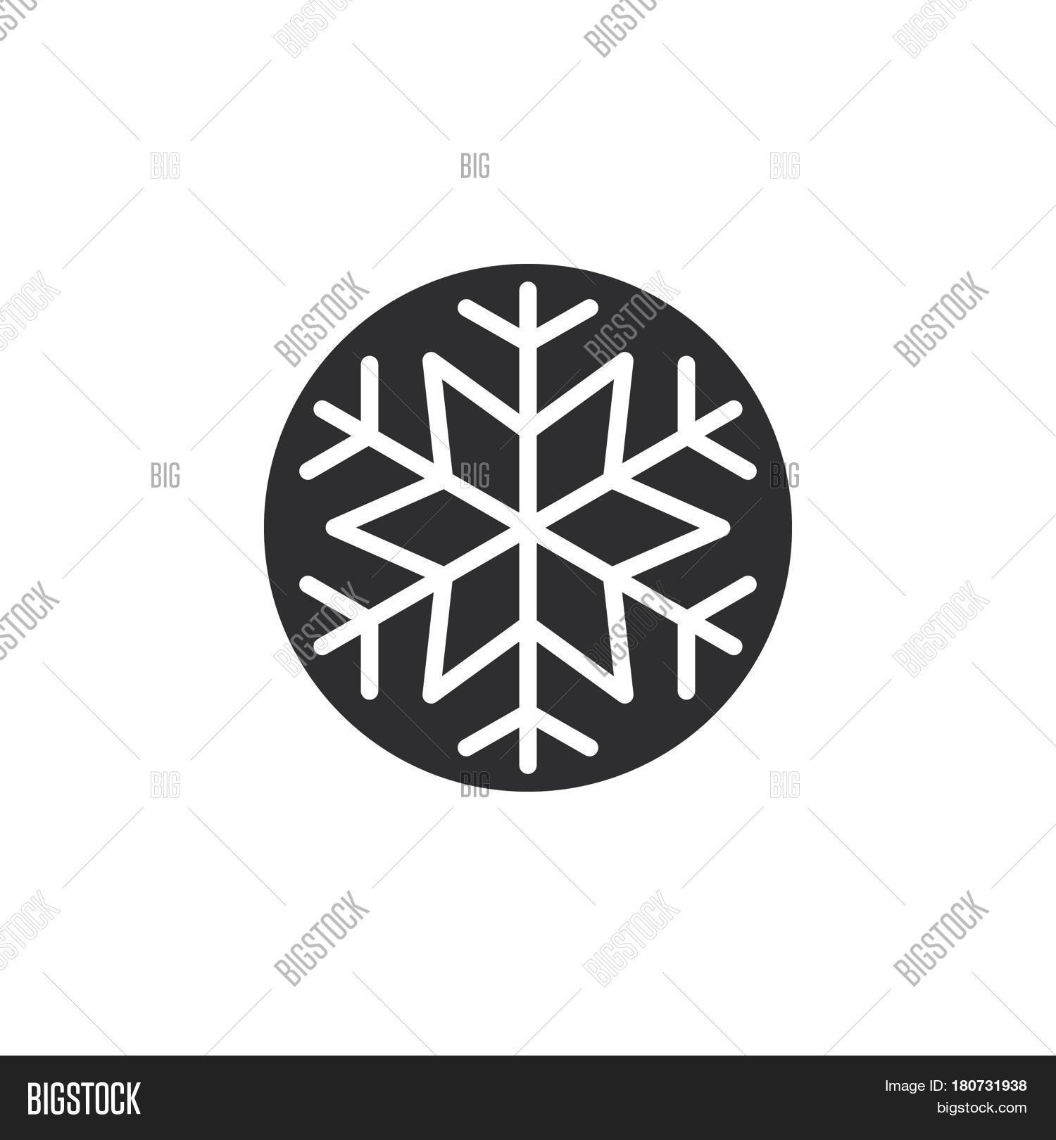 Snowflake Freeze Icon Vector Photo Free Trial Bigstock