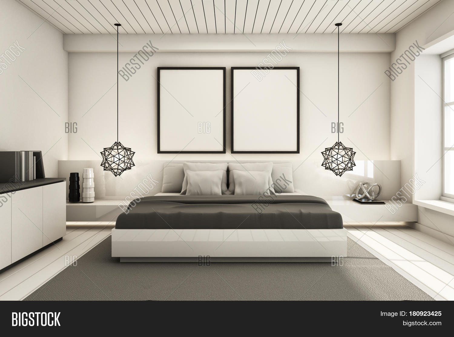 Bedroom Under Roof Image Photo Free Trial Bigstock