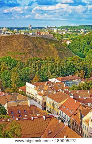 Remains Of Castle On Hill In Vilnius