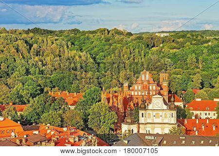 Churches Of St Anne And St Bernard Of Vilnius