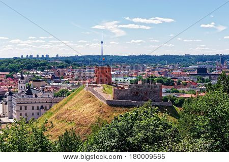 Tower And The Lower Castle In Vilnius In Lithuania