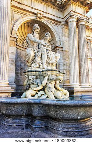 Albrecht Fountain On Albertinaplatz Vienna