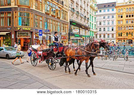 Horse Fiacre At Stephansplatz Vienna