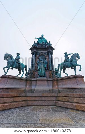 Maria Theresa Monument in Vienna of Austria.