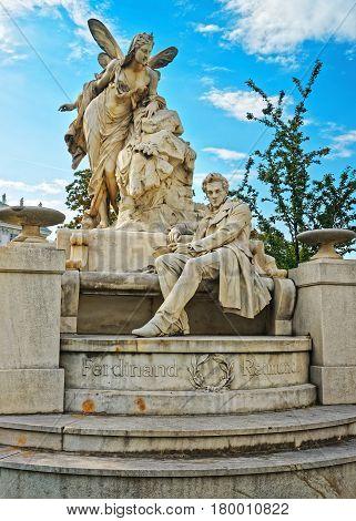 Raimund Ferdinand Sculpture In Weghuberpark In Vienna