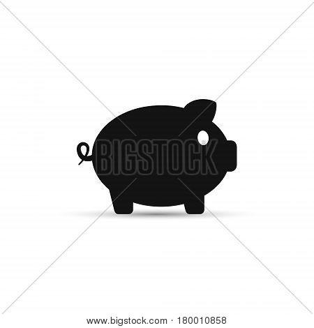 Piggybank moneybox vector icon isolated on white.