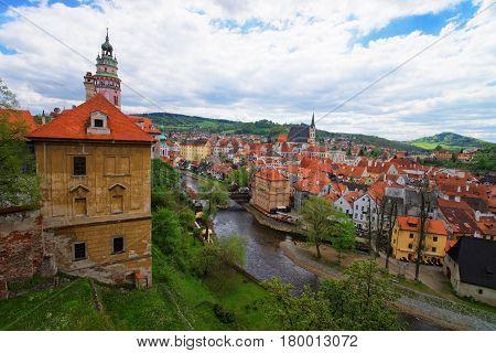 Castle And Bend Of Vltava River Cesky Krumlov