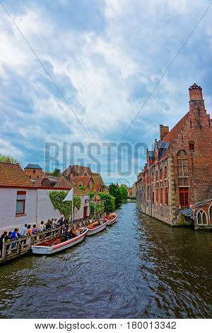 Memling Museum In St John Hospital And Water Canal Bruges