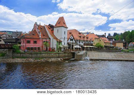 Old Town And Vltava River Cesky Krumlov