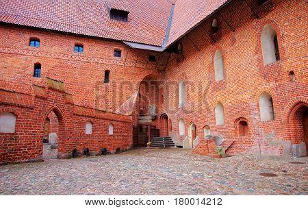 Architecture Of Malbork Castle At Pomerania Poland
