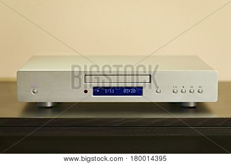 Hifi CD player on a shelf