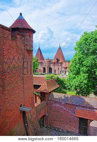 Entrance Into Malbork Castle At Pomerania In Poland