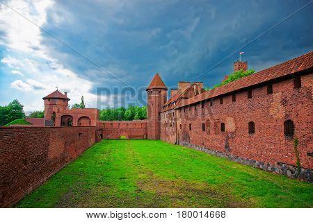 Entrance Into Malbork Castle At Pomerania Of Poland