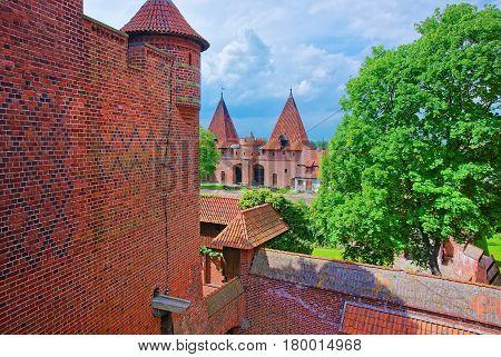 Malbork Castle At Pomerania Province In Poland