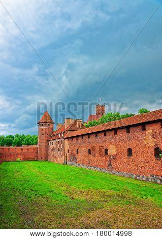 Malbork, Poland - May 8 2014: Malbork Castle also called as Marienburg Teutonic Order in Pomerania of Poland.