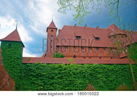 Malbork Castle In Pomerania Province Of Poland