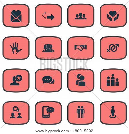 Vector Illustration Set Of Simple  Icons. Elements Helpful, Camaraderie, Symbol And Other Synonyms Winner, Arrows And Singleness.