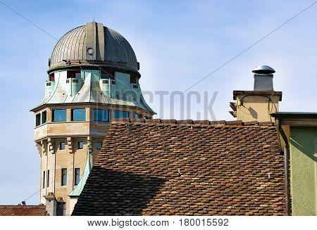 Telescope Dome In Zurich From Lindenhof