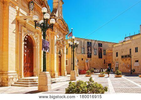 People At St Paul Church In Rabat On Malta