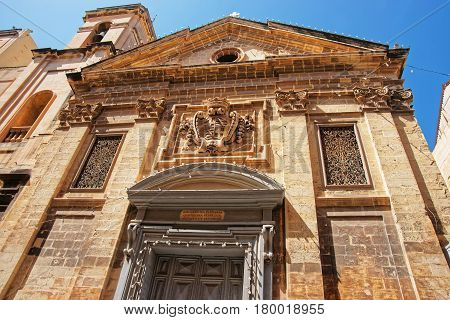 Facade Of Saint Francis Of Assisi Church In Valletta