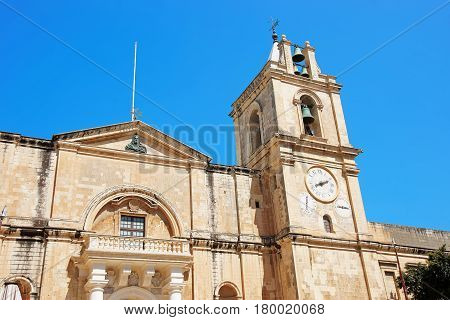 St John Co-Cathedral of Valletta old town Malta