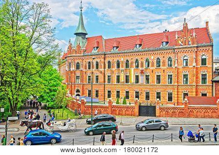 Catholic Seminary At Wawel Castle In Krakow