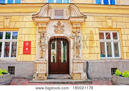 Cervantes Institute In The Old Town Of Krakow