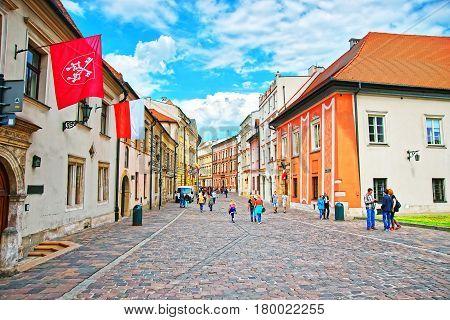 People In Old Town Of Krakow