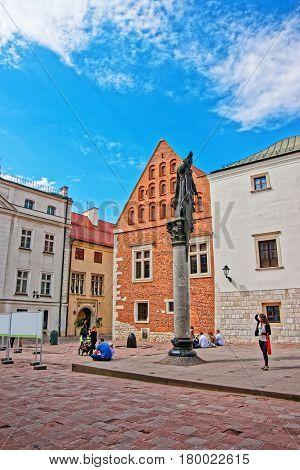 Statue Of Piotr Skarga On Saint Maria Magdalena Square Krakow