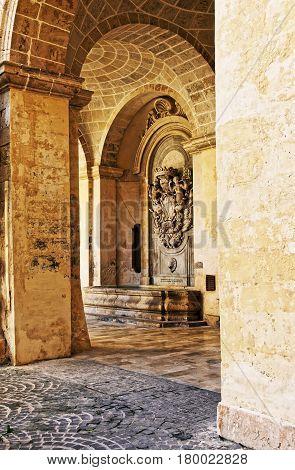 Courtyard Of Grandmaster Palace Valletta