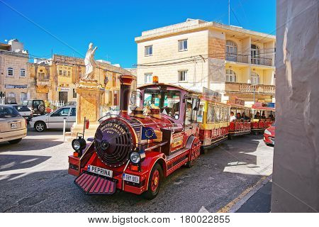 Excursion Train At St Paul Church Square In Rabat