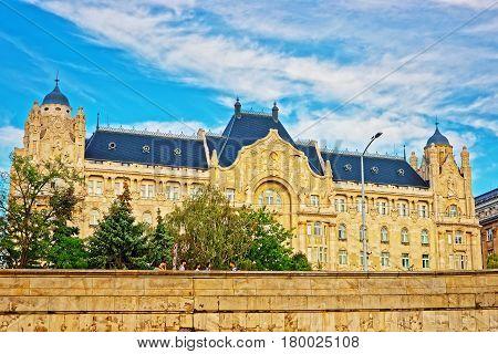 Gresham Palace Building in Budapest of Hungary