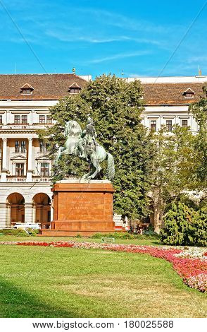 Statue Of Francis Rakoczi In Budapest