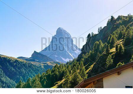 Zermatt With Matterhorn Peak