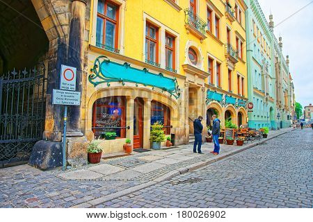 People In Old Town Of Wroclaw