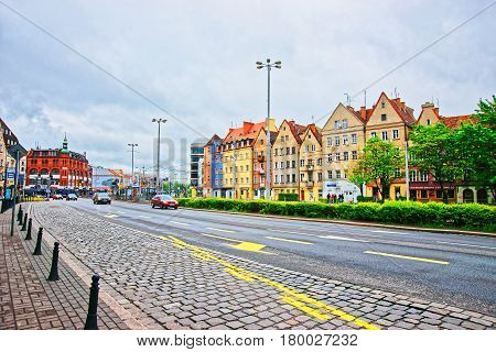 University Library And Streets Wroclaw
