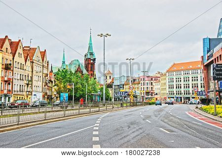 University Library And Streets Of Wroclaw