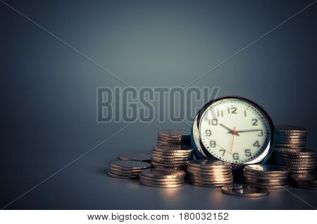 Time Savings Time is Money. Saving money concept