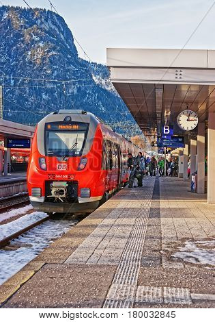 Passengers High Speed Train Garmisch Partenkirchen