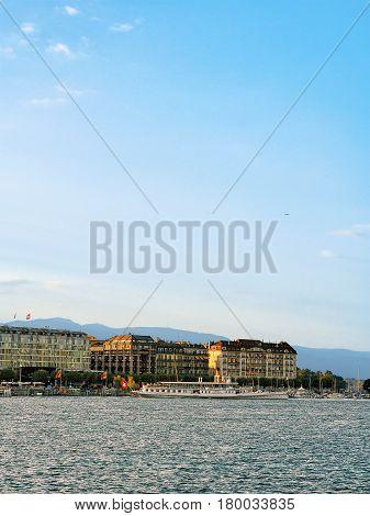 White Ferry Geneva Lake Geneva Switzerland