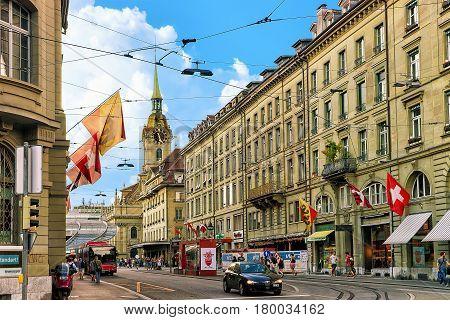 People At Spitalgasse Street In Bern