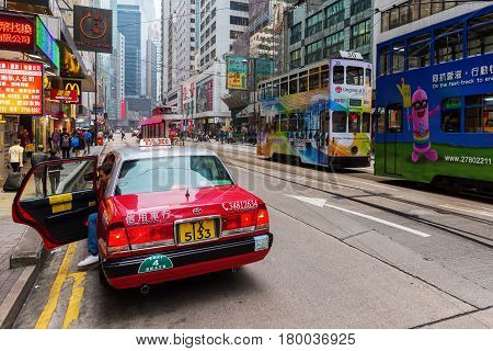 Street Scene In Kowloon, Hong Kong