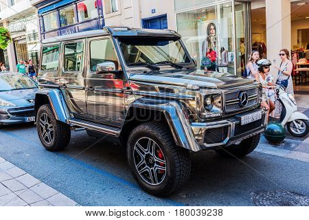 Mercedes-benz Off-road Car In Cannes