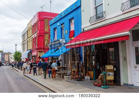 Portobello Road In London, Uk
