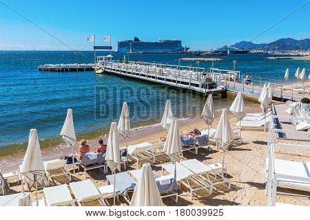 City Beach At The Croisette In Cannes
