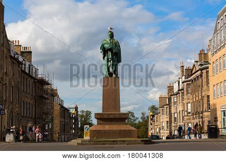 Thomas Chalmers Statue In Edinburgh, Uk