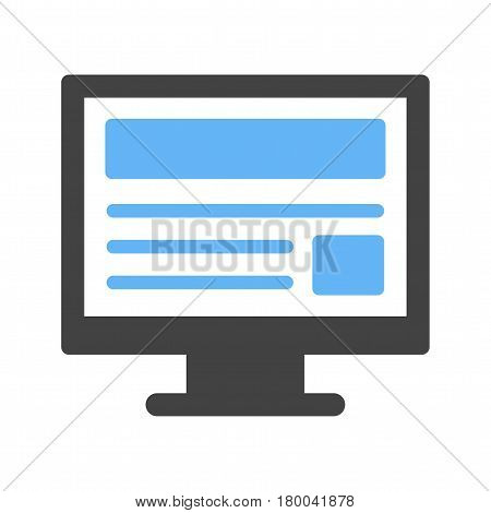 Webpage, website, analytics icon vector image. Can also be used for business administration. Suitable for mobile apps, web apps and print media.