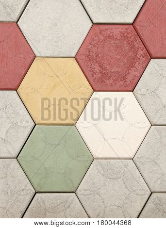 Concrete blocks for sidewalk or pavement hexagon honeycomb